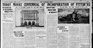 د پیټسبورګ پوسټ ګزټیټ د پیټسبورګ د 1916 میلادي پیړۍ اعلان وکړ او د نوي ښار تالار جوړول.